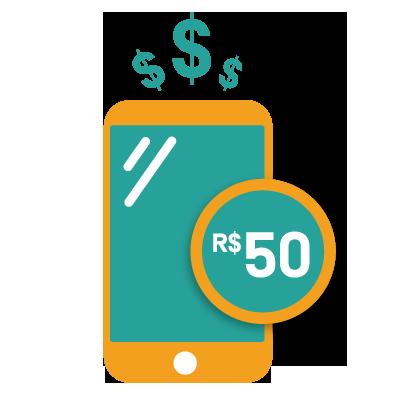 RECARGA R$ 50