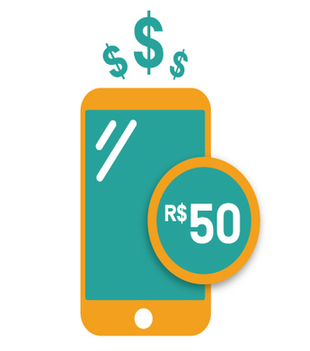 Recarga R$50,00